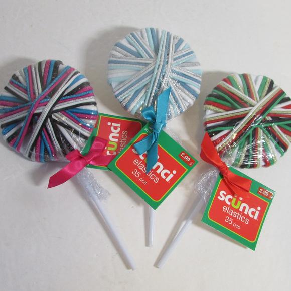 12 Scunci Hair Band Elastic Lollipops New 2e70481af5e